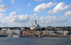 Helsinki. View of Helinki from the sea Royalty Free Stock Photo