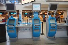 Helsinki Airport interior Stock Photo