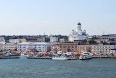 Helsinki. Ansicht vom Meer Stockbild