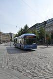 Helsinki, august 23 2014-Bus od Helsinki w Finlandia Zdjęcie Stock