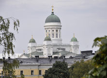 Helsinki,august 23 2014-Cathedral from Helsinki in Finland royalty free stock photos