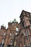 Helsinki,august 23 2014-Cathedral Uspenski from Helsinki in Finland Royalty Free Stock Photos
