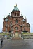 Helsinki,august 23 2014-Cathedral Uspenski from Helsinki in Finland Stock Photos