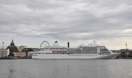 Helsinki,august 23 2014-Cruise Boat from Helsinki in Finland stock images