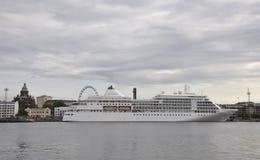 Helsinki,august 23 2014-Cruise Boat from Helsinki in Finland Stock Image
