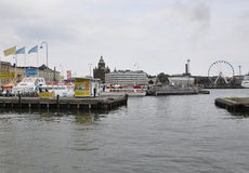 Helsinki,august 23 2014-Harbour of Helsinki in Finland stock image