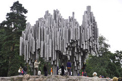 Helsinki,august 23 2014-Jean Sibelius Monument from Helsinki in Finland Stock Photography