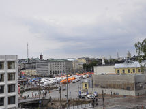 Helsinki,august 23 2014-Quay panorama from Helsinki in Finland Royalty Free Stock Image