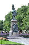 Helsinki, august 23 2014-Statue central park od Helsinki w Finlandia Obrazy Stock