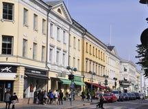Helsinki,august 23 2014-Street view from Helsinki in Finland Stock Photo