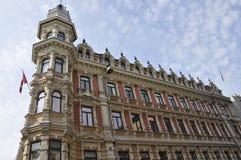 Helsinki, 23 augustus de 2014-historische bouw van Helsinki in Finland Royalty-vrije Stock Afbeelding