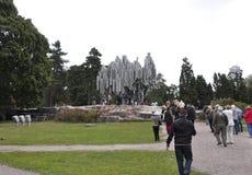 Helsinki, 23 augustus het Monument van 2014-Jean Sibelius van Helsinki in Finland Stock Fotografie
