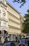 Helsinki, 23 augustus mening 2014-Sreet van Helsinki in Finland Royalty-vrije Stock Foto