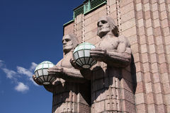 Helsinki-Bahnstation Stockbilder