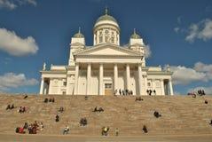 Helsinki bielu katedra Zdjęcie Royalty Free