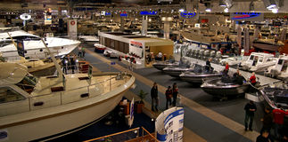 Helsinki Boat Show 2009 Exibition Royalty Free Stock Images