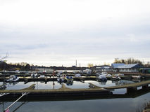 Helsinki boat station Royalty Free Stock Photo