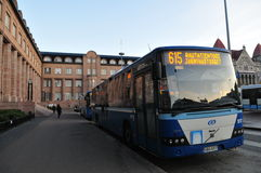 Helsinki Bus Royalty Free Stock Photo
