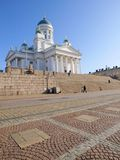 Helsinki Cathedral. In sunlight with a blue sky Stock Image