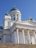 Helsinki Cathedral. In sunlight with a blue sky Stock Photo