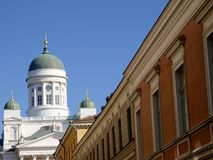 Helsinki Cathedral. In sunlight with a blue sky Stock Images