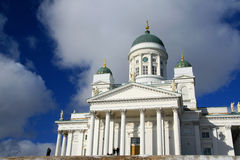 Helsinki Cathedral. Big Lutheran cathedral in Helsinki royalty free stock images