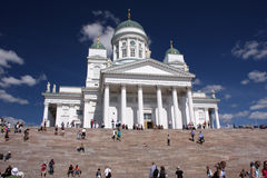 Helsinki cathedral. Evangelical lutheran cathedral (Suurkirkkoin Finnish) in Helsinki, Finland, a popular meeting spot for inhabitants and tourists alike