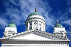 Helsinki Cathedral. With blue sky Royalty Free Stock Images