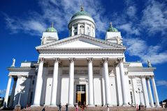 Helsinki Cathedral. With blue sky Stock Photography