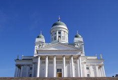 Helsinki Cathedral. Evangelical Lutheran Church located in the center of Helsinki, Finland. The architectural style is called neo-classical and the cathedral Stock Images