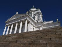 Helsinki Cathedral. The Helsinki Cathedral in Finland, blue sky background Stock Images