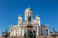 Free Helsinki Cathedral And  Tsar Alexander II Royalty Free Stock Photos - 186575818