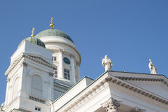 Helsinki Cathedral from below Royalty Free Stock Images