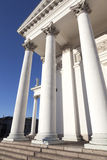 Helsinki cathedral with blue sky Stock Images