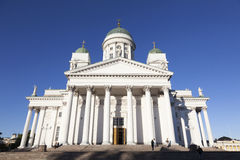 Helsinki cathedral with blue sky Stock Photo