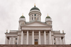 Helsinki Cathedral entrance Royalty Free Stock Photos