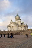 Helsinki Cathedral in the evening Royalty Free Stock Photos