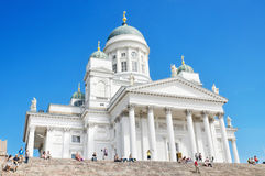 Helsinki Cathedral, Famous landark in Finland Stock Images