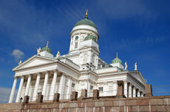 Helsinki Cathedral, Finland. Evangelical Lutheran Church located in the center of Helsinki, Finland. The architectural style is called neo-classical and the Royalty Free Stock Photo