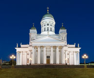 Helsinki Cathedral, Finland,  at night Royalty Free Stock Photo