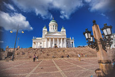 Helsinki Cathedral is the Finnish Evangelical Lutheran Stock Photography