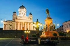 Helsinki Cathedral, Helsinki, Finland. Summer Stock Image