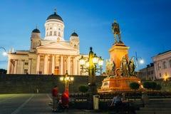 Helsinki Cathedral, Helsinki, Finland. Summer Royalty Free Stock Image