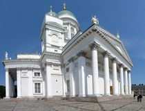 Helsinki Cathedral. Helsinki Lutheran Cathedral on Senate Square is a landmark of the city royalty free stock photography