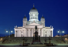 Helsinki cathedral and monument to Alexander II Stock Photography