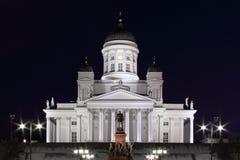 Helsinki Cathedral at night Royalty Free Stock Image