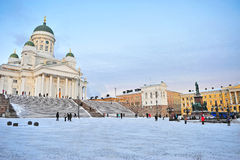 Helsinki, Cathedral square Royalty Free Stock Image