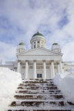 Helsinki Cathedral In Winter Royalty Free Stock Photography