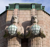 HELSINKI. CENTRAAL STATION stock afbeelding