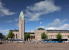Helsinki Central Railway Station Royalty Free Stock Photos